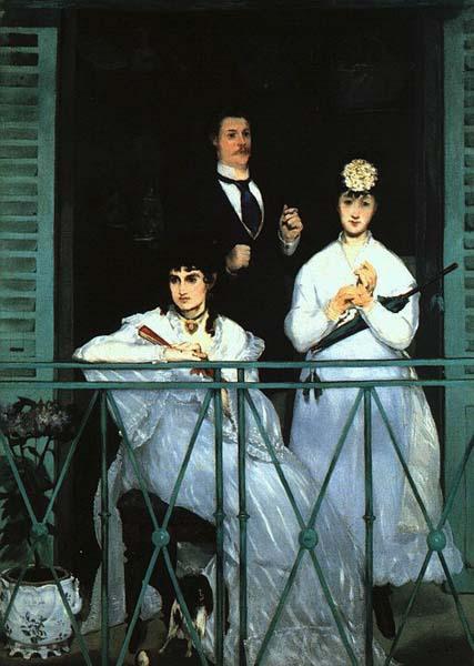 Edouard Manet, Balkon, 1868r., 169x123cm, Paryż, Louvre,