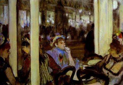 fot.2.Edgar Degas. Women, on a Cafe Terrace. 1877. Pastel. Musée d'Orsay, Paris, France,