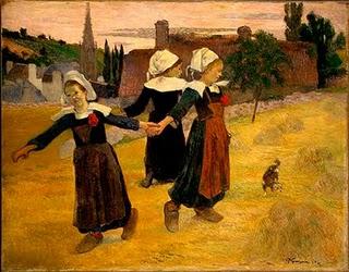 Paul Gauguin, Tańczące Bretonki w Pont Aven