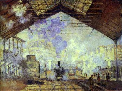 fot.4. Claude Monet - Gare Saint Lazare, Paris. 1877. Oil on canvas. Musée d'Orsay, Paris, France