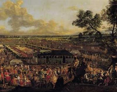 "Fot.3. Bernardo Bellotto,""Elekcja Stanisława Augusta"", 1778, Zamek Królewski, Warszawa , fot. Wojciech Kryński i Jan Morek"
