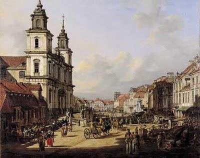"""Fot.4. Bernardo Bellotto,"""" Kościół św. Krzyża, 1778, Zamek Królewski, Warszawa, fot. Wojciech Kryński i Jan Morek"""