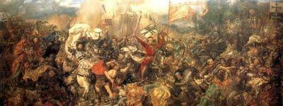 Fot. 2 Jan Matejko, Bitwa pod Grunwaldem, 1878, olej na płótnie, 426 × 987 cm, Muzeum Narodowe w Warszawie