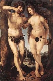 Fot.2. Jan Gossaert, Adam i Ewa, 1520, olej na drewnie, 168,9x111,4 cm, Królewska kolekcja, Zamek Windsor,Anglia