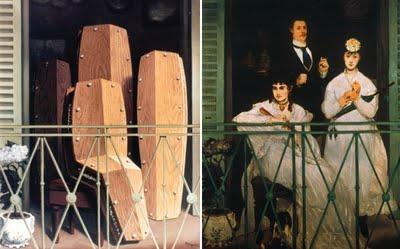 fot.2. Rene Magritte, Perspektywa II: Balkon Maneta, 1950, fot.3. Edouard Manet, Balkon, 1868-1869
