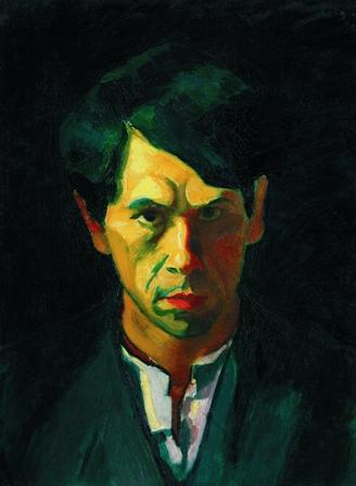 Dezső Czigány, Autoportret, 1909, olej na płótnie