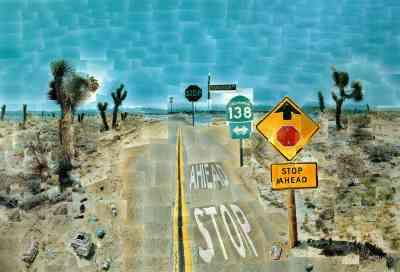 Fot.3 David Hockney, Pearlblossom Highway, 1986 r.
