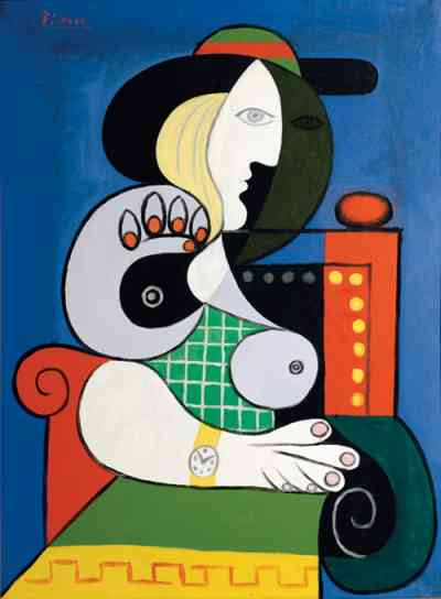 Pablo Picasso, Seated Woman with Wrist Watch, 1932 r.