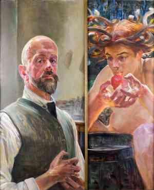 Jacek Malczewski Autoportret z Meduzą