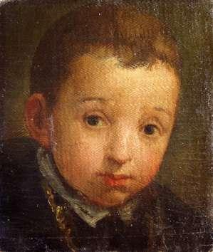 Paolo Veronese, Portret dziecka, 23x20 cm, olej na płótnie naklejonym na karton